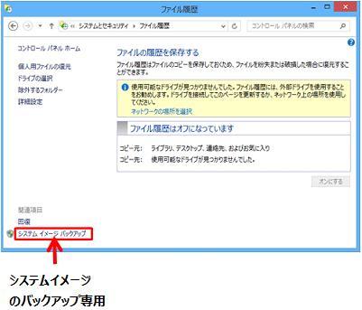 Windows8.1  ファイル履歴