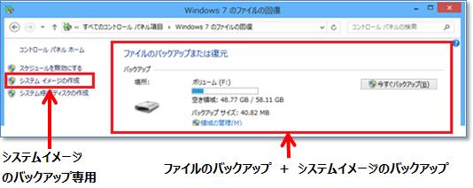 Windows 7 のファイルの回復